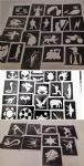 50 boys tattoo stencils for glitter tattoos / body art / airbrush / henna / cakes    Fund raising